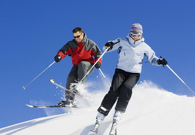 Отдых с горными лыжами