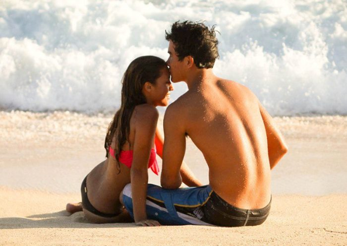 Флирт на пляже