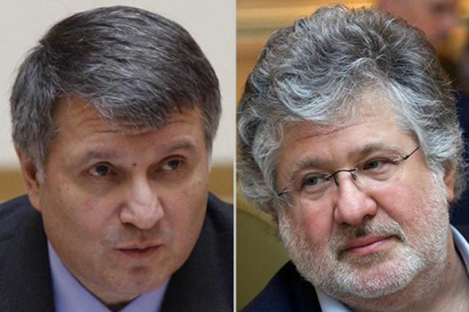 Арсен Аваков и Игорь Коломойский