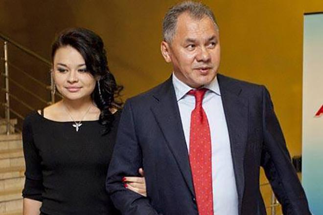 Сергей Шойгу с дочерью