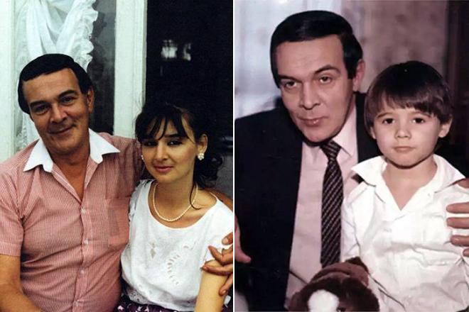 Муслим Магомаев с дочерью и внуком