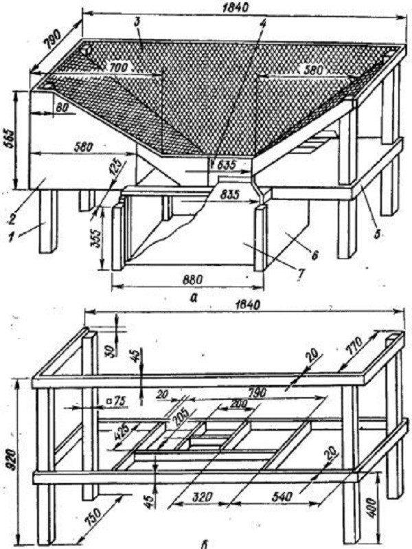 Сооружение частей клетки Михайлова, чертеж