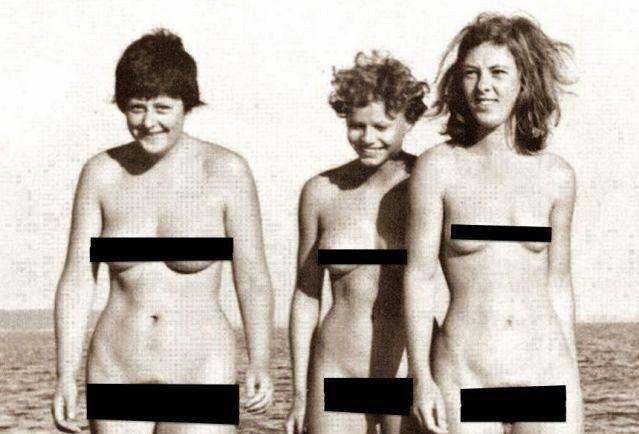 Ангела Меркель в молодости на пляже фото