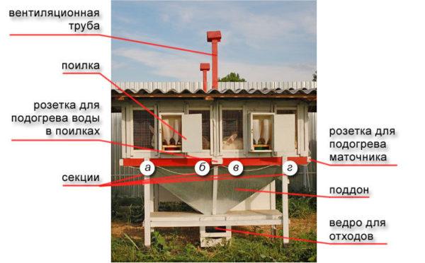Составные части клетки Михайлова