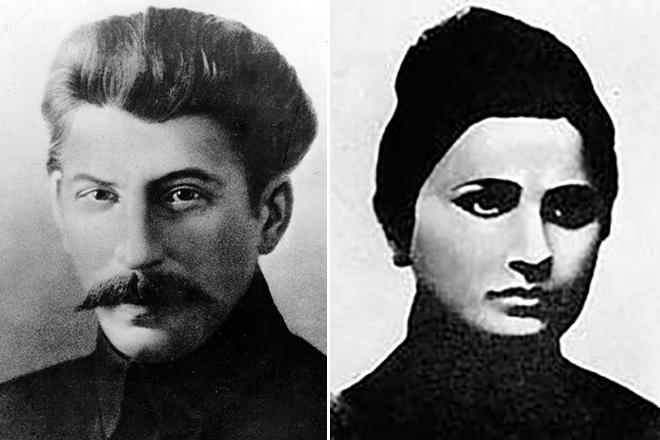Иосиф Сталин с первой женой