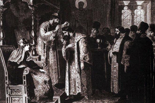 Царь Фёдор Иоаннович и Борис Годунов