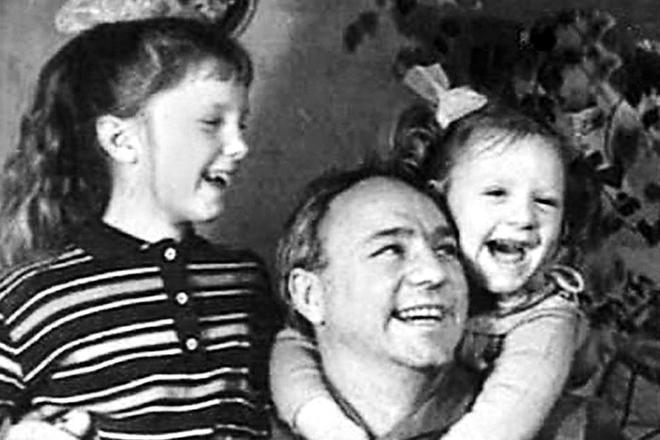 Николай Рыбников и его дочери