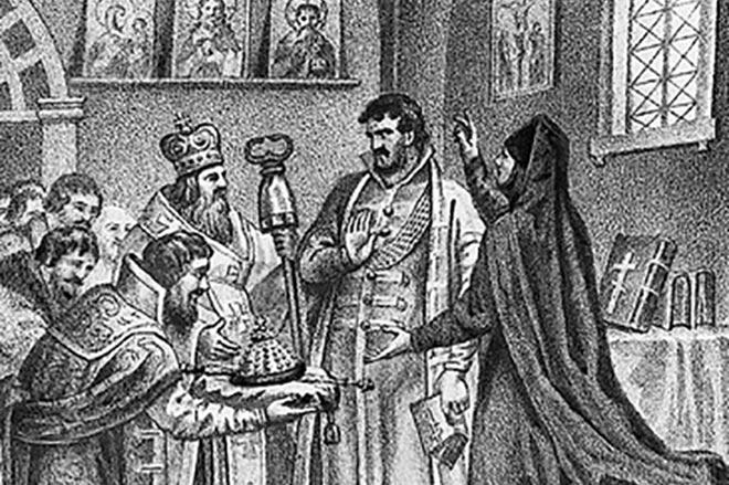 Борису Годунову сообщают о его избрании на царство