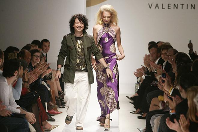 Валентин Юдашкин на неделе моды в Париже