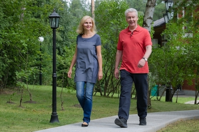 Сергей Собянин с бывшей женой Ириной