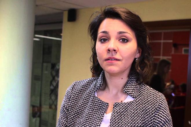 Ирина Чеснокова на съемках