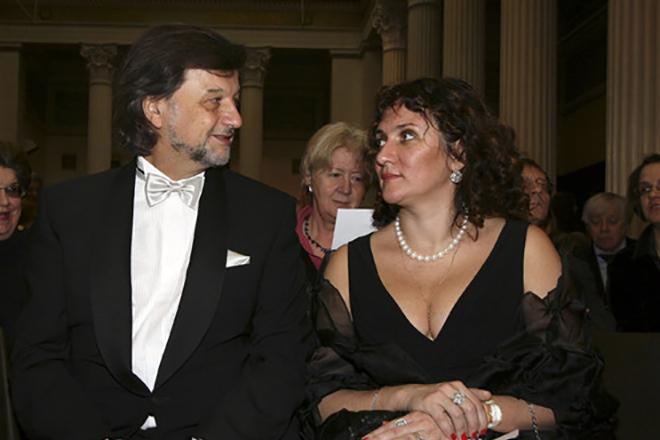 Алексей Рыбников и его жена
