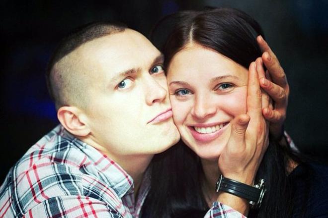 Александр Усик и его жена Екатерина