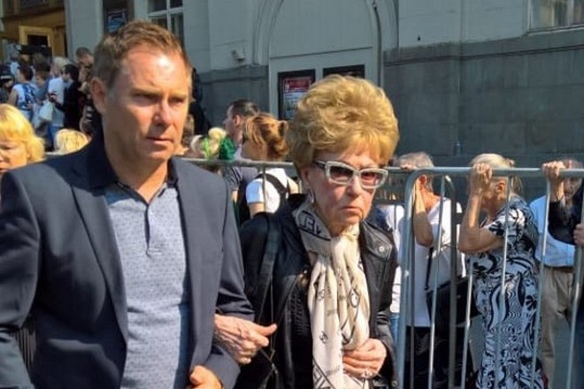 Светлана Моргунова в 2018 году на похоронах Иосифа Кобзона