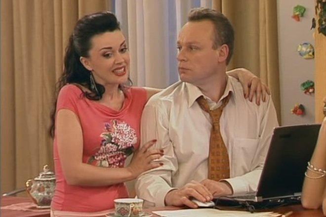 Анастасия Заворотнюк и Сергей Жигунов в сериале «Моя прекрасная няня»