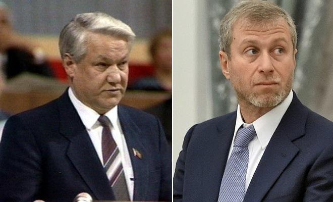 Борис Ельцин и Роман Абрамович