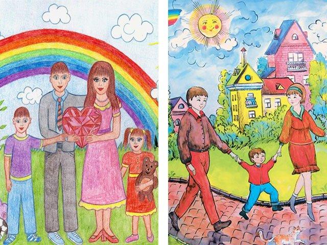 Мои рыжики, рисунок папе на день рождения своими руками от дочки 9 лет