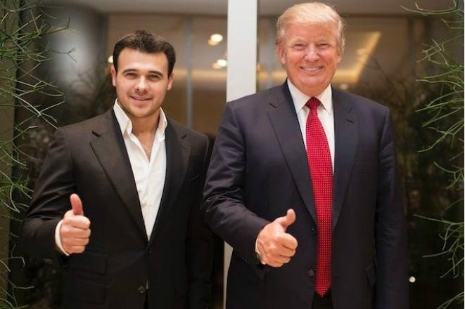Эмин Агаларов и Дональд Трамп