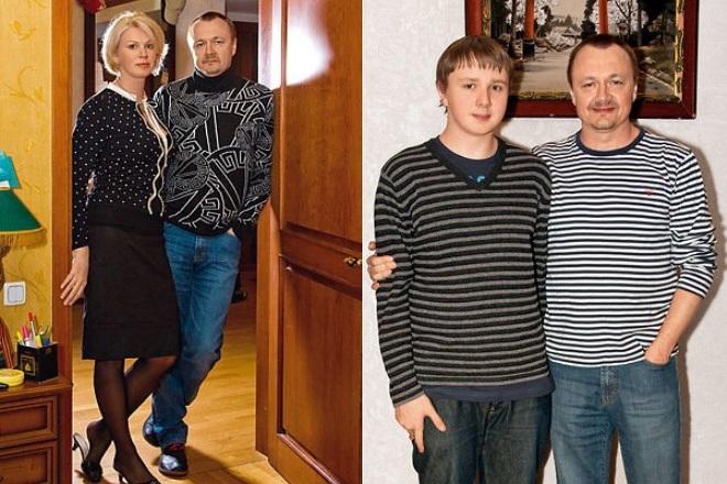 Владимир Шевельков с женой и сыном