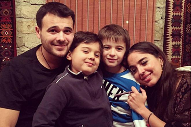 Эмин Агаларов с первой женой и детьми