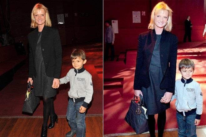 Светлана Хоркина с сыном