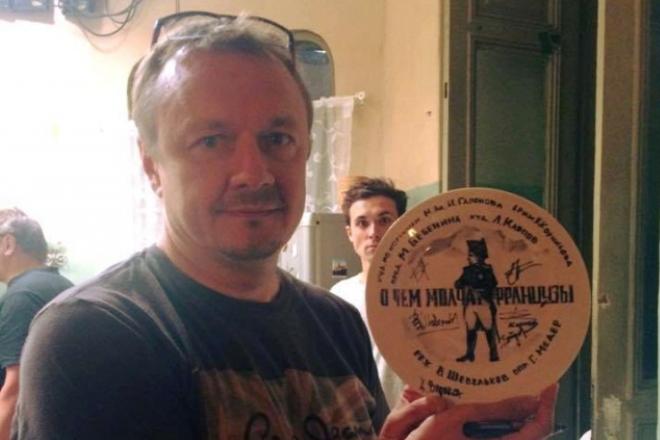 Владимир Шевельков на съемках фильма «О чем молчат французы»