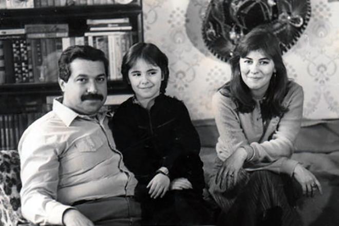 Юлий Гусман с женой и дочерью