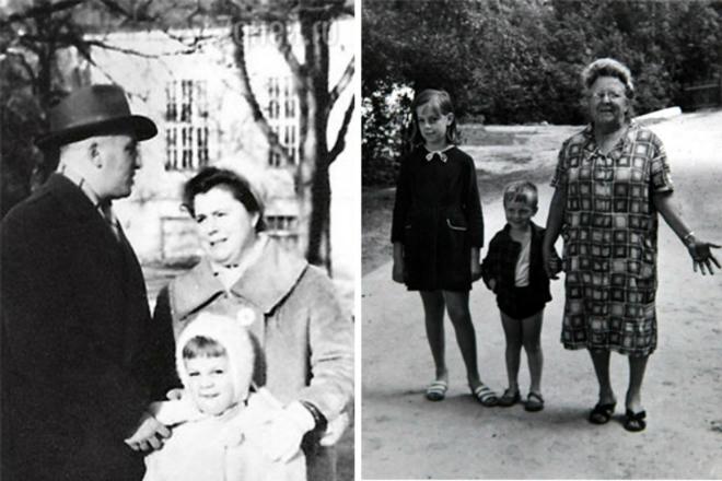 Любовь Казарновская в детстве с семьей