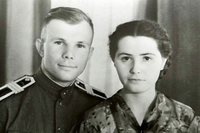 Юрий Гагарин и Валентина Горячева