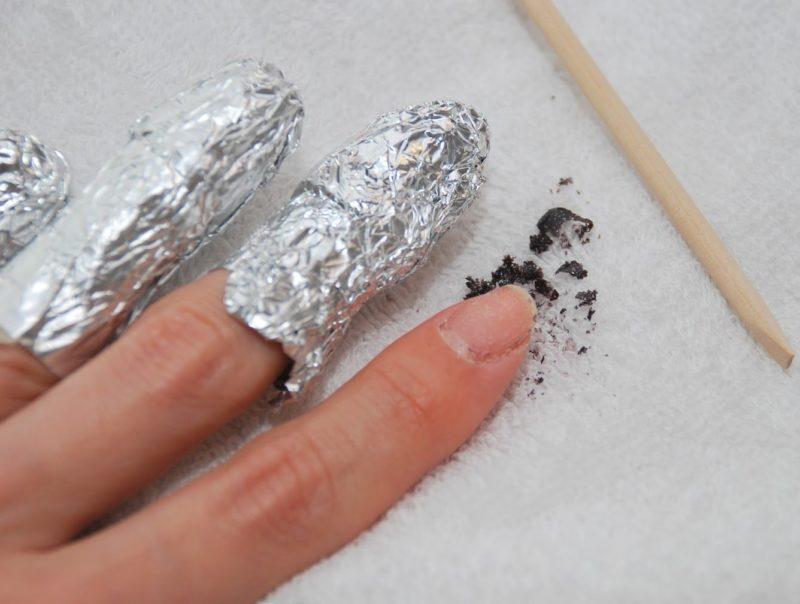 Обёртывание и обработка после снятия гель-лака