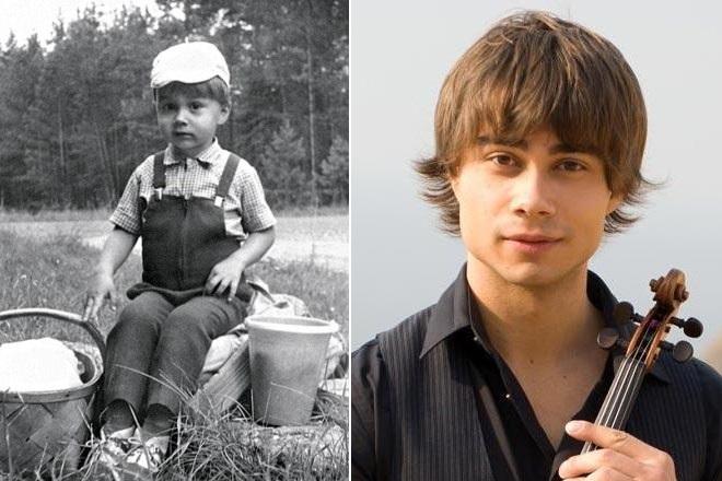 Александр Рыбак в детстве и сейчас
