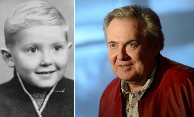 Юрий Стоянов в детстве и сейчас