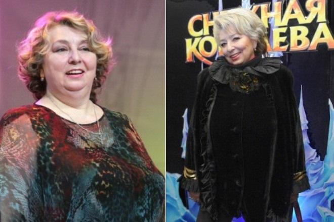 Татьяна Тарасова до и после похудения