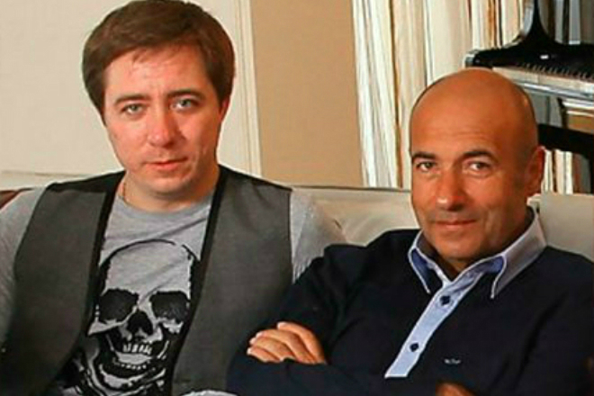 Игорь Крутой с сыном Николаем