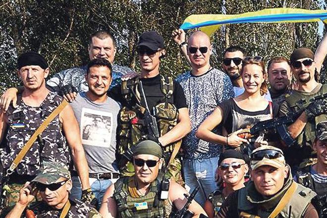 Владимир Зеленский с солдатами украинской армии