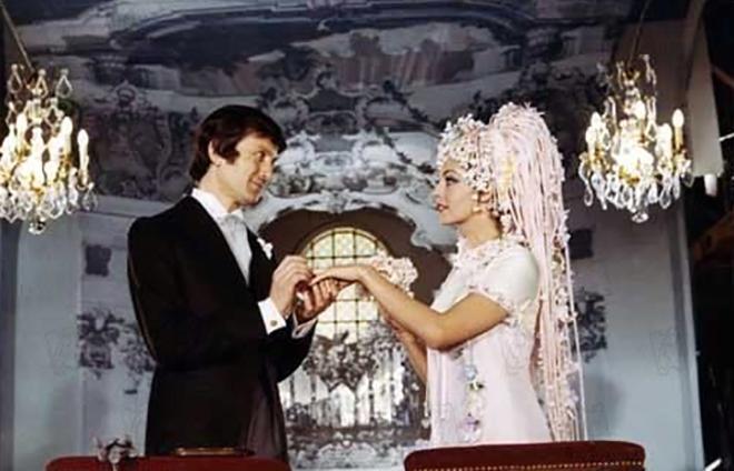 Мишель Мерсье с мужем