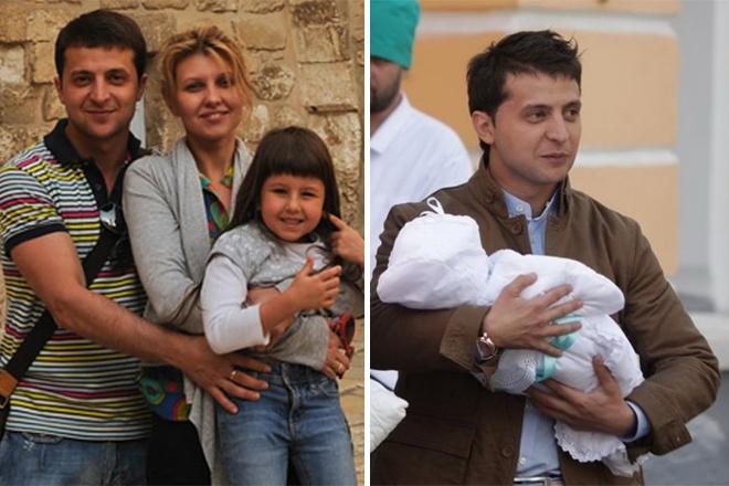 Владимир Зеленский с женой и детьми