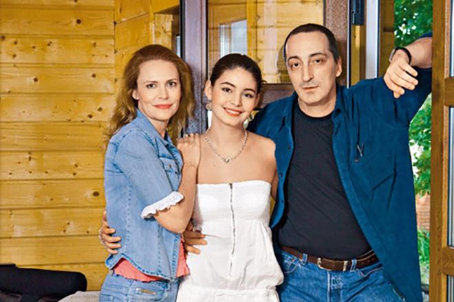 Кирилл Козаков и Алена Яковлева с дочерью Марией