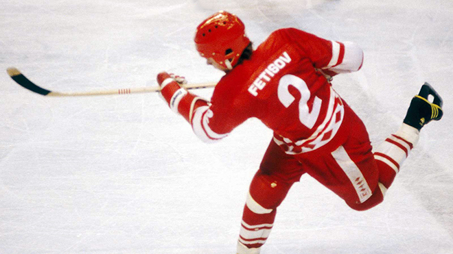 Молодой Вячеслав Фетисов на льду