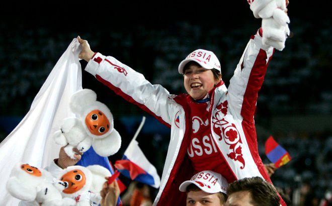 Ирина Слуцкая на Олимпиаде в Турине