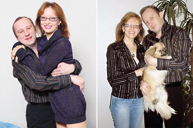 Ольга Зарубина и ее муж Андрей Салов