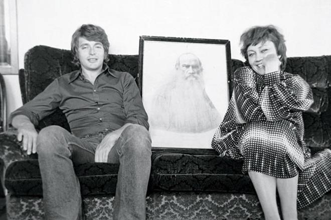 Лариса Лужина с мужем