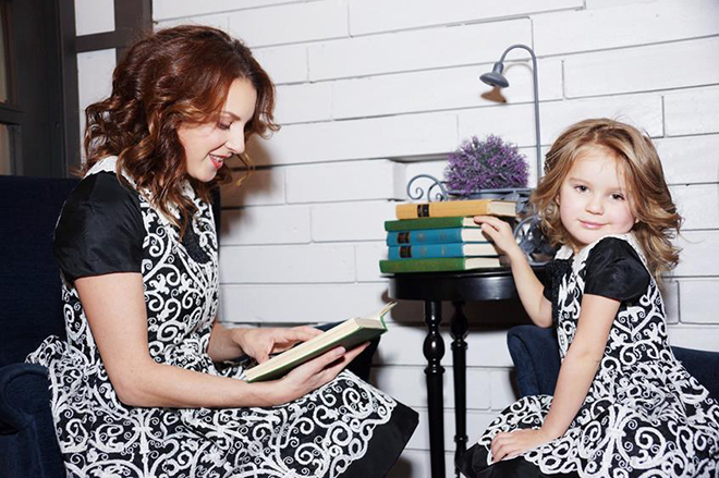 Ирина Слуцкая с дочкой
