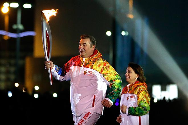 Владислав Третьяк и Ирина Роднина в Сочи