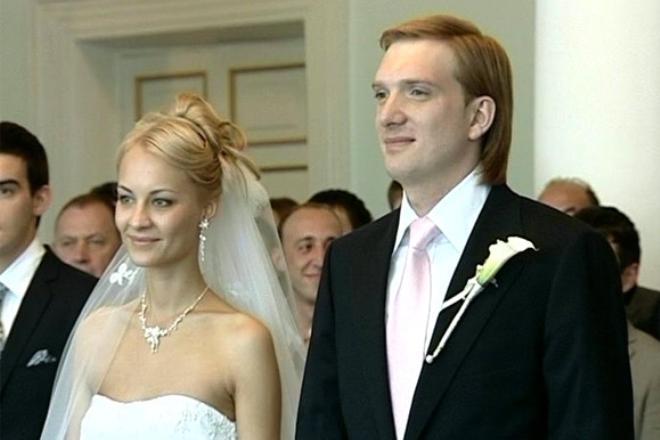 Андрей Бурковский с женой Ольгой