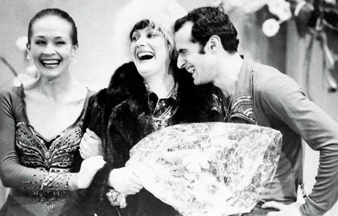 Елена Чайковская с Натальей Линичук и Геннадием Карпоносовым