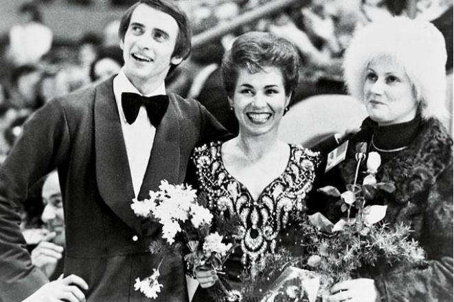 Елена Чайковская с Татьяной Тарасовой и Георгием Проскуриным