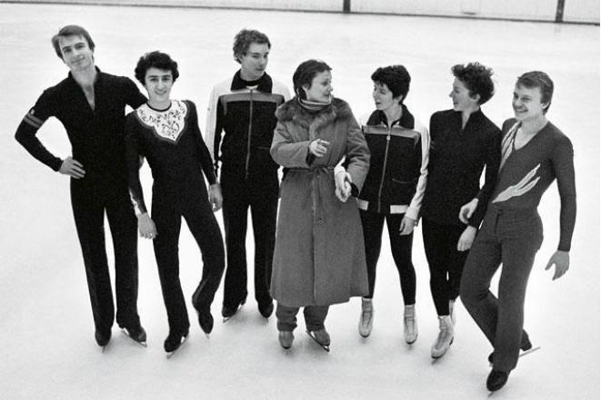 Тренер Елена Чайковская с учениками