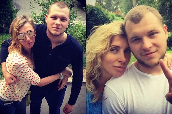 Светлана Бондарчук с сыном