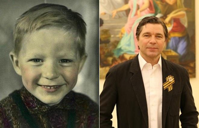 Сергей Маховиков в детстве и сейчас
